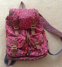 Girls Pink Love Heart Accessorize Medium sized Backpack