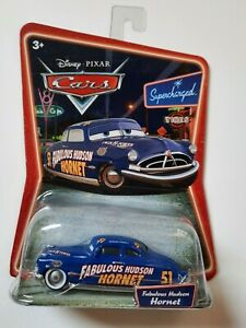 Disney pixar cars Fabulous Hudson Hornet WHITE wheels supercharged 1:55 maclama