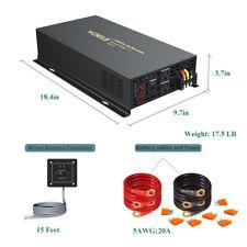 Pure Sine Wave Power Inverter 5000W 48V 110V 220V Solar System Home Remote Switc