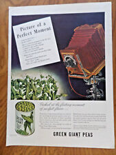 1944 Jolly Green Giant Ad  Peas Picture of a Perfect Moment Vintage Camera