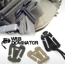 5pc MOLLE SHOCK CORD BUNGEE RETAINER CLIPS ITW WEB DOMINATOR TACTICAL (BLACK)