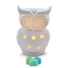 Owlchemy Snowy Owl Electric wax burner  (tart warmer) with light & summer scents