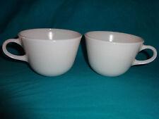 Pyrex White Milk Glass Coffee/Tea Cups Set of 2