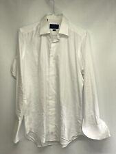 David Donahue USA-393 Men Trim Fit Dress Shirt /White /16.5 32/33.