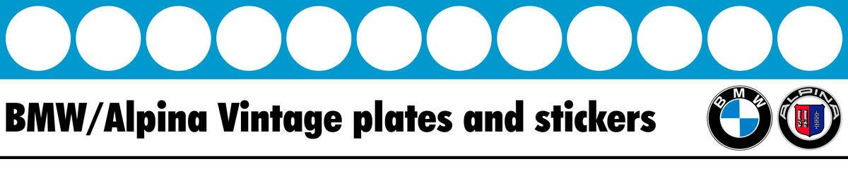 BMW Alpina vintage plates & decals