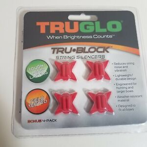 String Silencers - TruGlo Tru-Block Archery Bow Hunting Target 4 PACK, RED