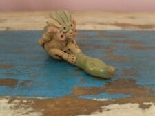 More details for 1960s vintage small aztec/mayan terracotta pipe