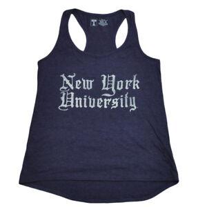 NCAA New York University Violets Women Ladies Purple Racerback Tank Top Shirt