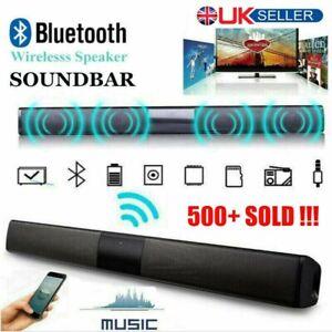 3D Surround Sound Bar System Wireless Bluetooth Soundbar Theater Speaker TV AUX