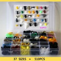 510PC Car Body Plastic Push Pin Rivet Fasteners Trim Moulding Clip 37 species