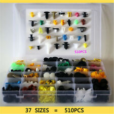 510PC Car Body Plastic Push Pin Rivet Fasteners Trim Moulding Clip 37 species