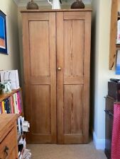 A well made and sturdy cupboard of Oregon pine with shelving of the same timber
