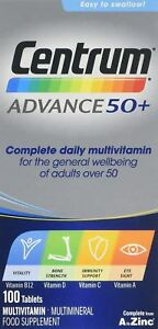 Centrum Advance 50+ - 100 Tablets