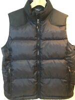 Polo Ralph Lauren Vest Boys Medium 10 12 Black Puffer Down Ski Winter Snap Snow