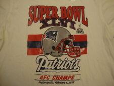 NFL NEW New England Patriots SOFT Distressed junk food Super Bowl T Shirt L