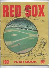1961 Boston Red Sox Yearbook MLB
