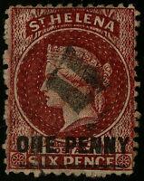 St Helena   1864-73   Scott # 11   USED - Perforated 12.5