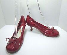 Soda Women's Patent Brick Red Round Toe Medium Heel Pumps Shoes Size US 9 M