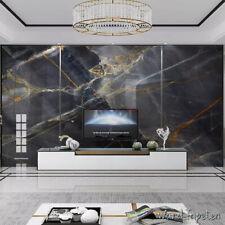 Vlies Fototapete Wandtapeten Wandbilder Schwarz-Weiß-Marmor Pusteblumen 8328