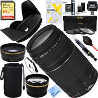 Canon 75-300mm F4-5.6 III EF Lens + 64GB Wide-Angle & Telephoto EOS Rebel Kit