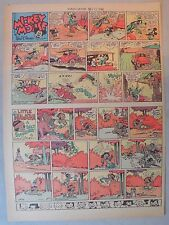 Mickey Mouse Sunday Page by Walt Disney from 12/22/1940 Tabloid Page Size