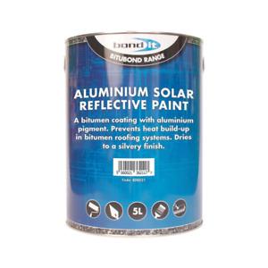 Bond It Solar Reflective Aluminium Roof Repair Bitumen Based Paint 5 Litres