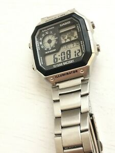 Casio AE-1200WH-D1AVEF Chronograph LCD Multifunction World Time Watch