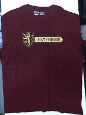 Harry Potter Griffindor Crest And Logo Burgundy Red Shirt Size XXL
