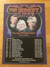 THE MOODY BLUES - 1 x 2010 THE DAY WE MEET AGAIN UK TOUR FLYER (SIZE A5)