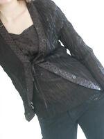 Ladies Camisole & Jacket Black Crinkle BNWT - UK Size 14 - Sweetheart Empire