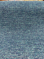Chenille Performance Sampson Ocean Peacock Blue Upholstery Fabric by the yard