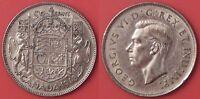 Almost Uncirculated 1940 Canada Silver 50 Cents