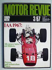 Zeitschrift Motor Revue Heft 63 3/1967 mit Delage, Alfa Typ 160, Astro I, LeMans