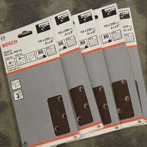 50 Bosch 115mm x 230mm 60G Quick Fit Sanding Sheets 1/2 Sanders. 2607018214