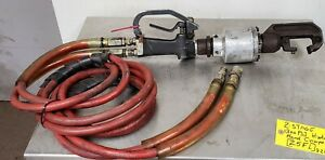 Pneumatic C-Yoke Riveter Squeezer 2-Way With Hose NOT TESTED [Z5FL]
