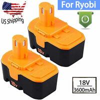 2X For Ryobi 18V 18Volt Battery 3.6Ah ONE+P100 P101 P105 ABP1801 ABP1803 BPP1820