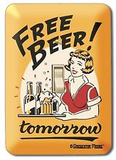 "Free Beer."" Tomorrow "" Label Car Surf Surfer Surfboard Beach Switch Plate"