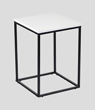 Manchester Furniture Supplies Louis High Gloss Side Table White/Black