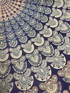 Ocean Queen Wall Hanging Large Blue White Mandala Design Tapestry Hawaii Boho