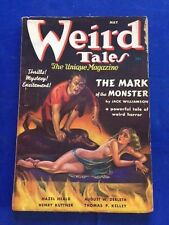 WEIRD TALES. MAY, 1937 - FIRST EDITION WITH MARGARET BRUNDAGE COVER ART