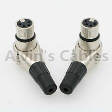 Right angle 90 Degree XLR 4pin female Connector for ARRI Monitor DSLR Rig
