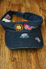 Power Puff Girls Denim Hat Visor Adjustable Glitter Cartoon Network 2001 Rare