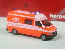 TOP: Herpa Mercedes Sprinter Feuerwehr Frankfurt Rettungsdienst in OVP