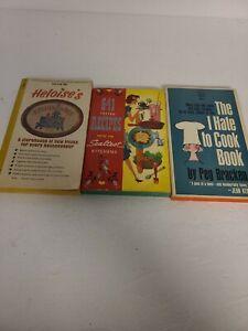 Lot of 3 Vintage Paperback Books on Cooking 1950s - 1960s Heloises's Sealtest