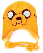 ADVENTURE TIME JAKE BEANIE HAT WITH BRAIDED TIES - KC0803ADV - YELLOW