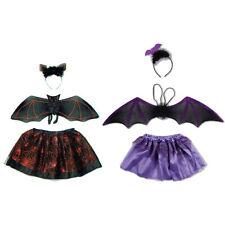 Mädchen Damen Fledermaus Vampir Dracula Tutu Set rot Halloween Kostüm Karneval