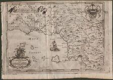TERRA DI LAVORO, Campania. Carta geogr. dall'opera di G.B. Pacichelli, anno 1703
