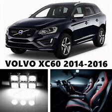 10pcs LED Xenon White Light Interior Package Kit for VOLVO XC60 2014-2016