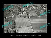 OLD LARGE HISTORIC PHOTO LIENDEN NETHERLANDS HOLLAND TOWN AERIAL VIEW c1940 1
