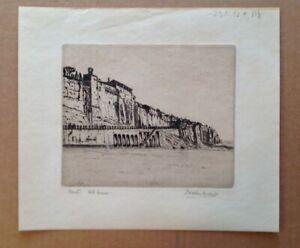 Porto Romana, Italy - Etching of Port / Coastal area - Italian landscape
